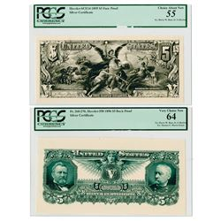 Educational $5 1895 & 1896 Series Essay Face Progress Proof Rarities.