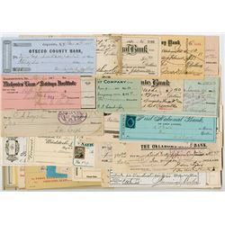 U.S. Checks, Drafts, Receipts and Miscellaneous Fiscal Documents ca.1850-1930's.