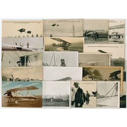Collection of French Military Aviation Postcards, ca. 1900-1930
