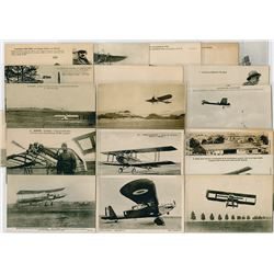 Collection of French Military Aviation Postcards, ca. 1900-1940