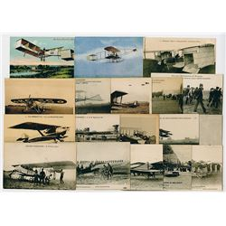 Collection of French Military Aviation Postcards, ca. 1910-1930