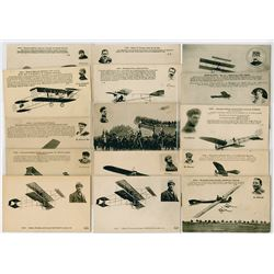 Collection of French Military Aviation Postcards, ca. 1910-1940