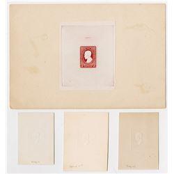 Republic of the Philippines, Postal Stationary Embossed Proof Quartet, ca.1930-40's