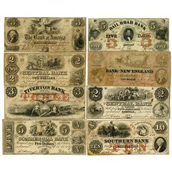 Obsolete Banknote Octet ca.1839-1861.