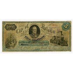 City of Helena, State of Arkansas, 1860-70?, Obsolete Banknote.