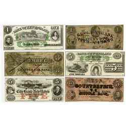 Connecticut Obsolete Banknote Assortment ca.1850-60's.