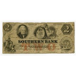 Southern Bank of Georgia. 1858 Obsolete Banknote.