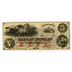 Bank of Morgan. 1857 Obsolete Banknote.