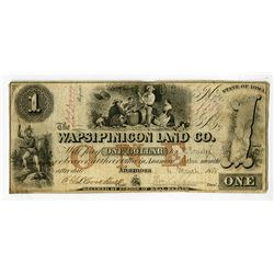 Wapsipinicon Land Co., 1858 Obsolete Banknote.