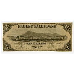Hadley Falls Bank, Ca.1851-65 Contemporary Counterfeit Obsolete Banknote.