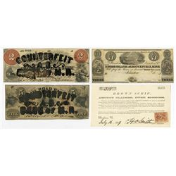 North-Eastern Obsolete Banknote Quartet, ca.1830-1867