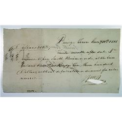 Bridgetown, Handwritten Post Bill dated 1/10/1818.