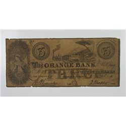 Orange Bank 1854 Contemporary Counterfeit Obsolete Banknote.