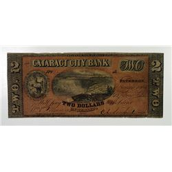 Cataract City Bank. 1856. Obsolete Banknote.