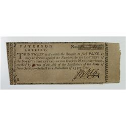 Lottery of the Society for Establishing Useful Manufactures, ND (1793) Lottery Ticket Related to Ale