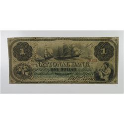 National Bank. 1863. $1 Obsolete Note.