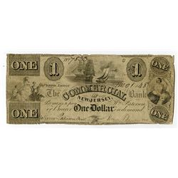 Commercial Bank of New Jersey. 1848. Obsolete Note.