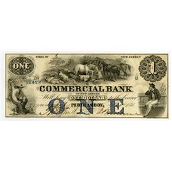 Commercial Bank of New Jersey. 1856 Obsolete Note.