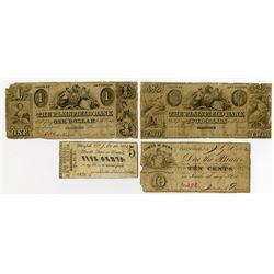 Plainfield, NJ. Plainfield Bank & Others. 1862. Quartet of Obsolete Bank Notes.