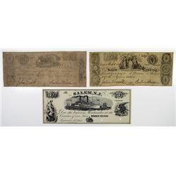 Salem Banking Co. 1863 Obsolete Banknote Trio.