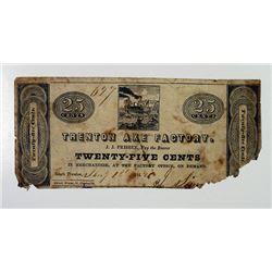 South Trenton, NJ. Trenton Axe Factory 1842  Obsolete Scrip Note.
