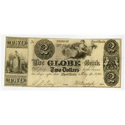 Globe Bank 1840 Obsolete Banknote.