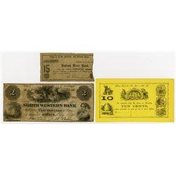 1861. Trio of Obsolete Notes.