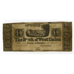 Bank of West Union  Obsolete Note.