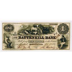Battenkill Bank. 1856. Obsolete Banknote.