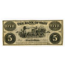 Bank of Troy 1859 Obsolete Banknote.
