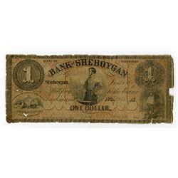Bank of Sheboygan 1857 Obsolete Banknote.