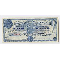 Cambria Trading Company 1908. Obsolete Scrip Note.