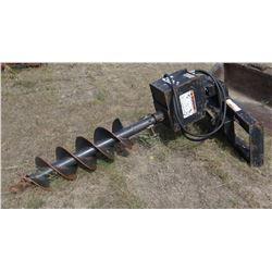 """Lowe hyd. post auger, skid steer attach, 12"""" bit"""
