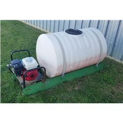 Slide-in sprayer/fire unit,