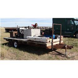 Shop-built flatbed trailer, 18 ft