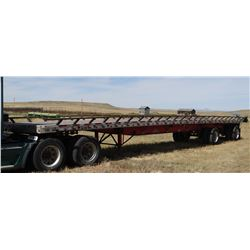 2007 Wilson flat deck semi trailer, 48 ft