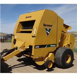 2015 Vermeer 605N DCF round baler, 1000 pto rpm