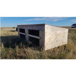 Portable Calf Hut, on skids
