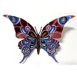 "Patricia Govezensky- Original Painting on Cutout Steel ""Butterfly CLXVII"""