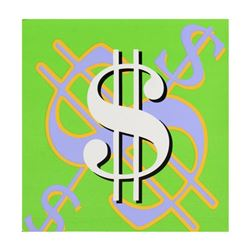 "Steve Kaufman (1960-2010), ""Dollar Sign State 5"" Limited Edition Silkscreen on Canvas, Numbered 49/5"
