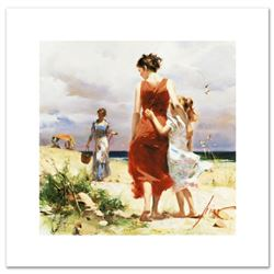 """Breezy Days"" Limited Edition Artist-Embellished Giclee on Canvas by Pino (1939-2010). AP Numbered a"