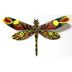 "Patricia Govezensky- Original Painting on Cutout Steel ""Dragonfly XIX"""