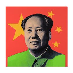 "Steve Kaufman (1960-2010), ""Mao"" Hand Embellished Limited Edition Silkscreen on Canvas, Numbered 19/"