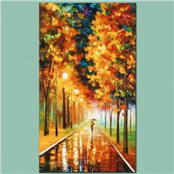 "Leonid Afremov ""Light of Autumn"" Limited Edition Giclee on Canvas, Numbered and Signed; Certificate"