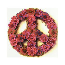 "Steve Kaufman (1960-2010), ""Peace"" Hand Embellished Limited Edition Silkscreen on Canvas, Numbered 1"