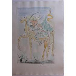 """Salvador Dali- Original Engravings with Color """"Adam and Eve"""""""