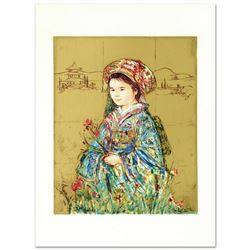 """""""Festival Kimono"""" Limited Edition Serigraph by Edna Hibel (1917-2014), Numbered and Hand Signed with"""