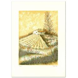 """Pierre Mas, """"Farm"""" Limited Edition Lithograph, Numbered and Hand Signed."""