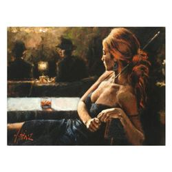 """Fabian Perez, """"Cynzia At Las Brujas"""" Hand Textured Limited Edition Giclee on Board. Hand Signed and"""