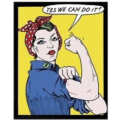 """Tee Buzz- Offset Lithograph """"Yes We Can Do It!"""""""